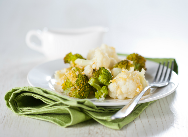 Warm Broccoli and Cauliflower Salad with Walnuts