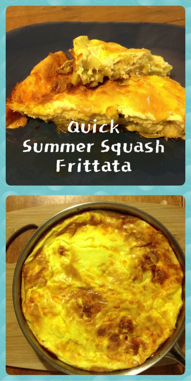Quick and easy summer squash frittata