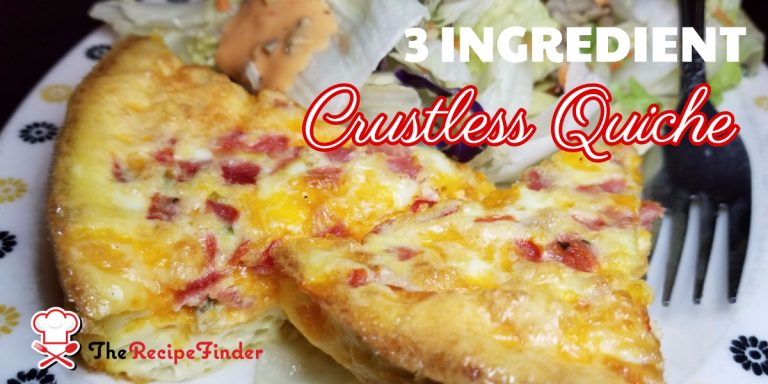 3 Ingredient Crustless Quiche